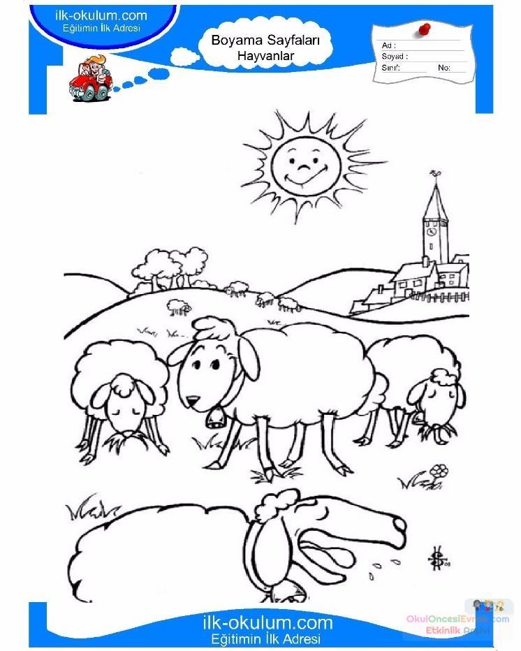 çocuklar Için Hayvan çiftlik Hayvanları Boyama Sayfası 69