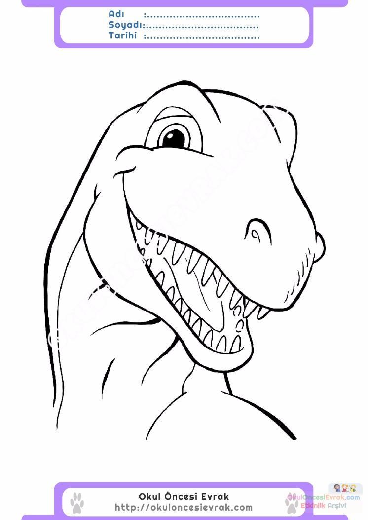 çocuklar Için Hayvan Hayvan Dinozor Boyama Sayfası 23 Preschool