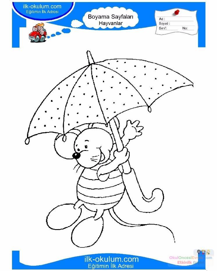 çocuklar Için Hayvan Hayvan Fare Boyama Sayfası 11 1 Preschool