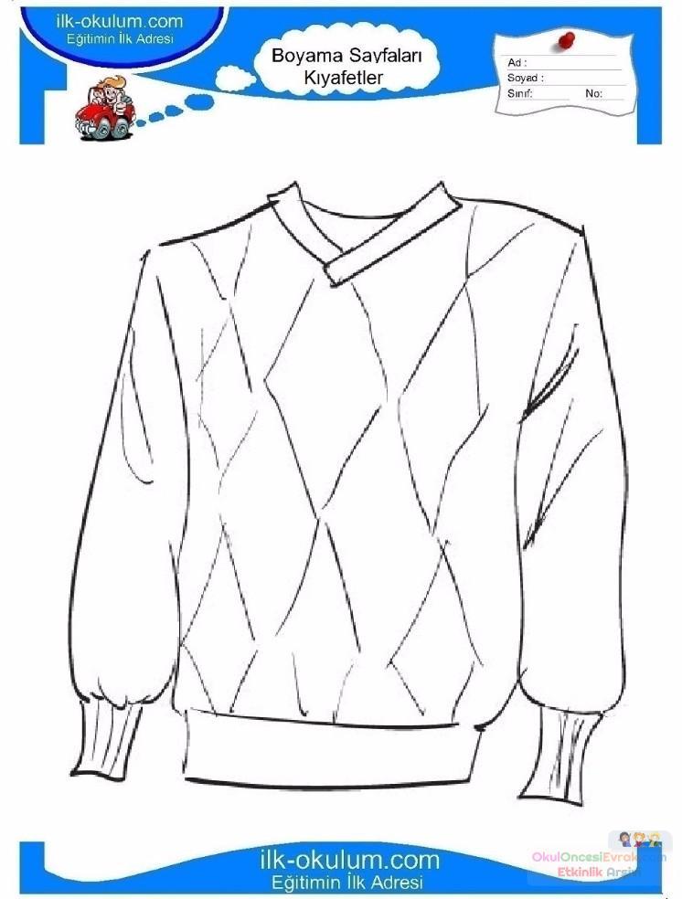 çocuklar Için Kazak Kıyafet Giysi Boyama Sayfası 16 1 Preschool