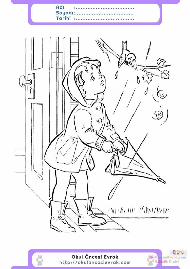 çocuklar Için Mevsimler Ilkbahar Mevsimi Boyama Sayfası 18