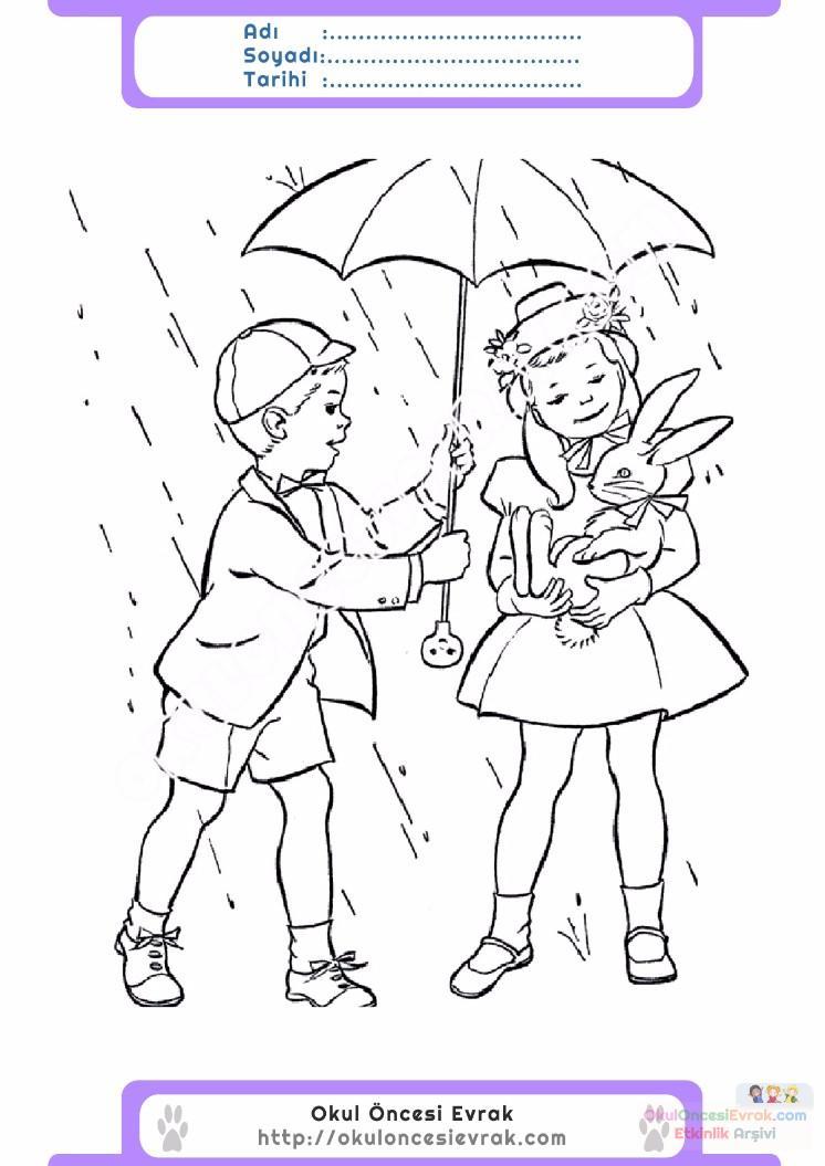 çocuklar Için Mevsimler Ilkbahar Mevsimi Boyama Sayfası 21