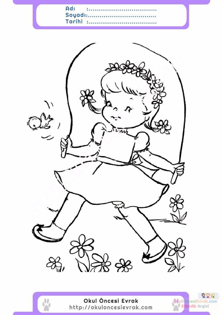 çocuklar Için Mevsimler Ilkbahar Mevsimi Boyama Sayfası 22