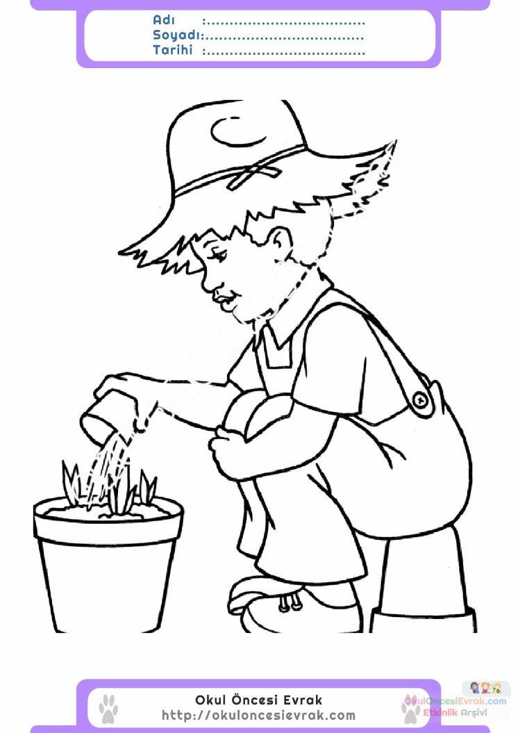 çocuklar Için Mevsimler Ilkbahar Mevsimi Boyama Sayfası 26
