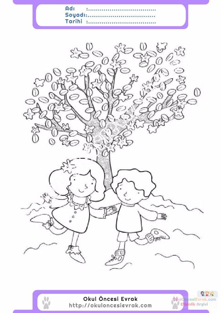 çocuklar Için Mevsimler Ilkbahar Mevsimi Boyama Sayfası 41