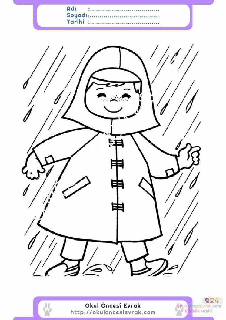 çocuklar Için Mevsimler Ilkbahar Mevsimi Boyama Sayfası 44