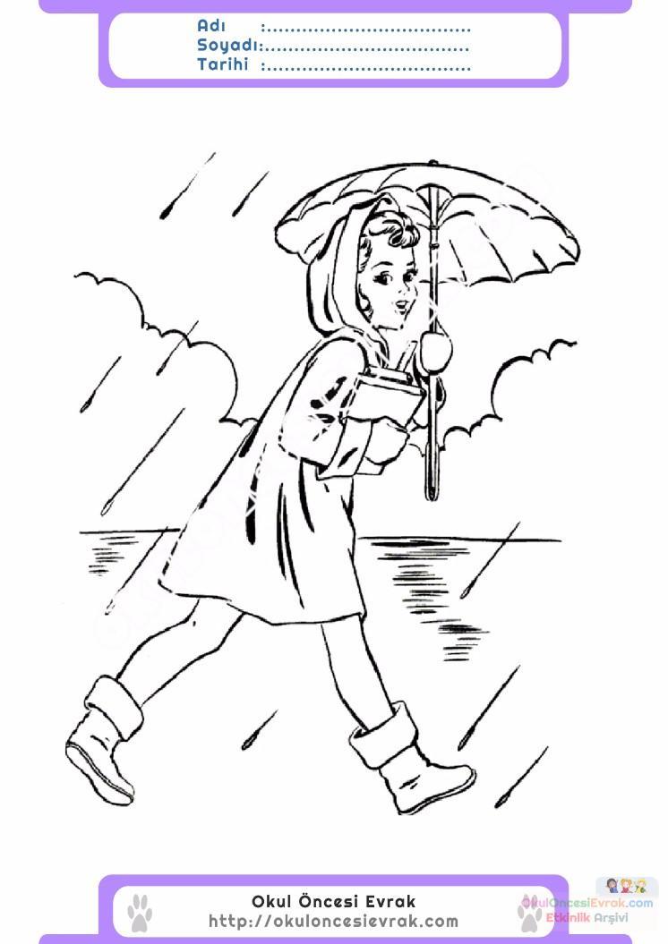 çocuklar Için Mevsimler Ilkbahar Mevsimi Boyama Sayfası 45