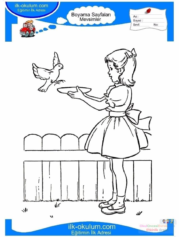 çocuklar Için Mevsimler Ilkbahar Mevsimi Boyama Sayfası 49