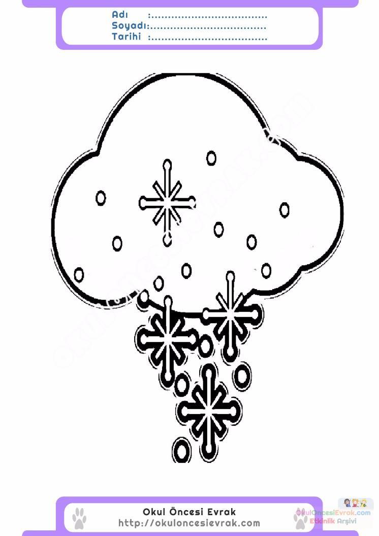 çocuklar Için Mevsimler Kış Mevsimi Boyama Sayfası 24 Preschool