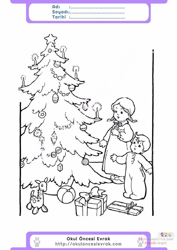 çocuklar Için Mevsimler Kış Mevsimi Boyama Sayfası 33 Preschool