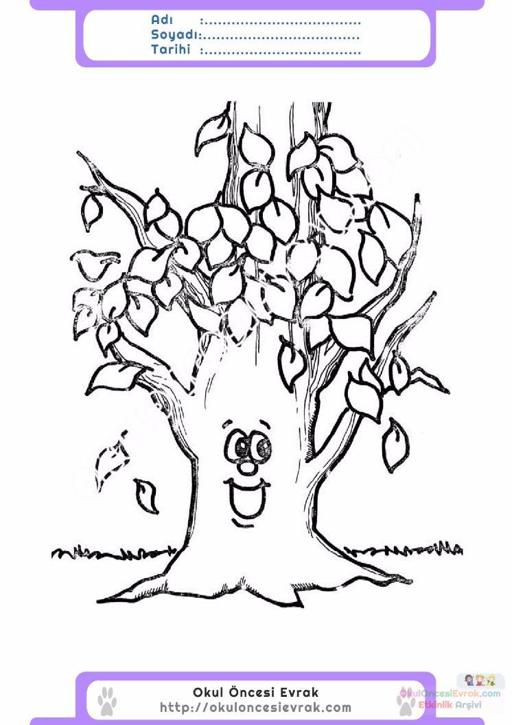 çocuklar Için Mevsimler Sonbahar Mevsimi Boyama Sayfası 34