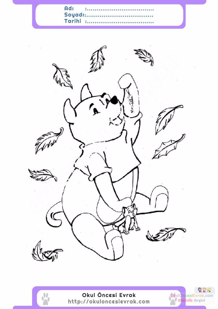 çocuklar Için Mevsimler Sonbahar Mevsimi Boyama Sayfası 48