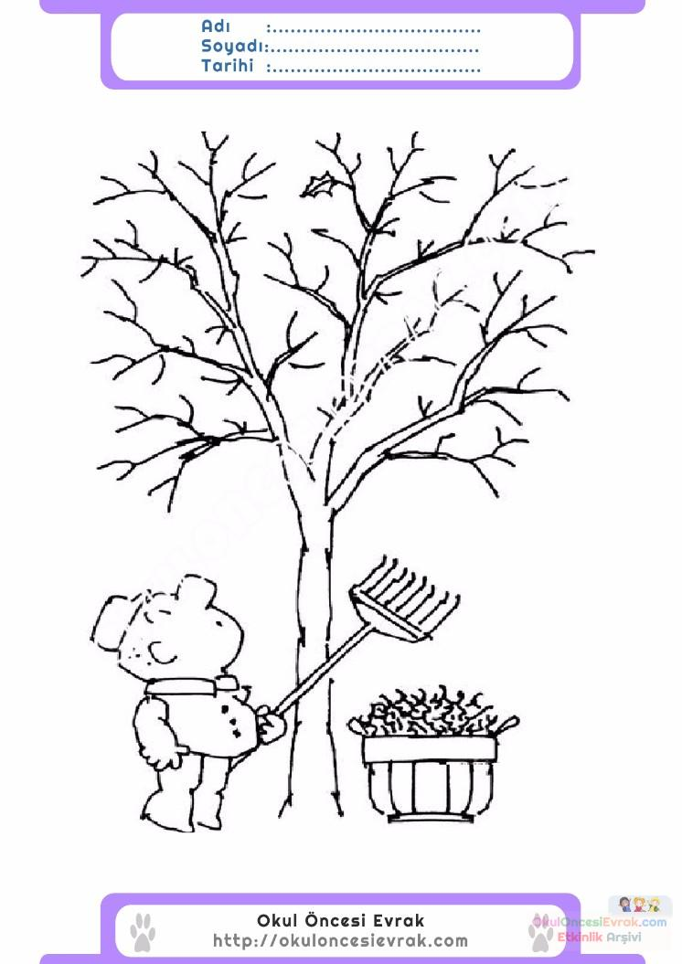çocuklar Için Mevsimler Sonbahar Mevsimi Boyama Sayfası 50