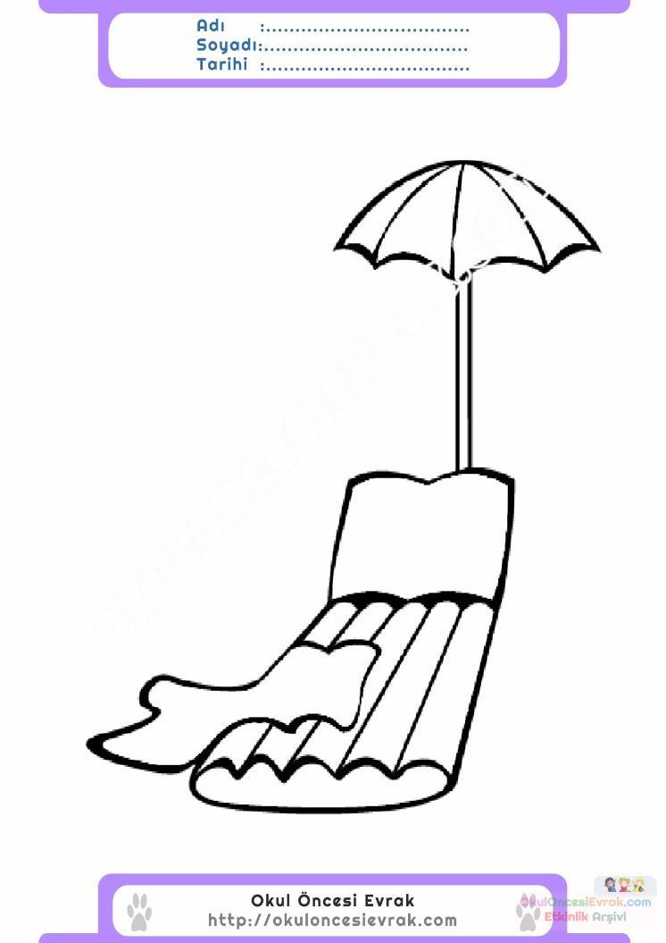 çocuklar Için Mevsimler Yaz Mevsimi Boyama Sayfası 21 Preschool