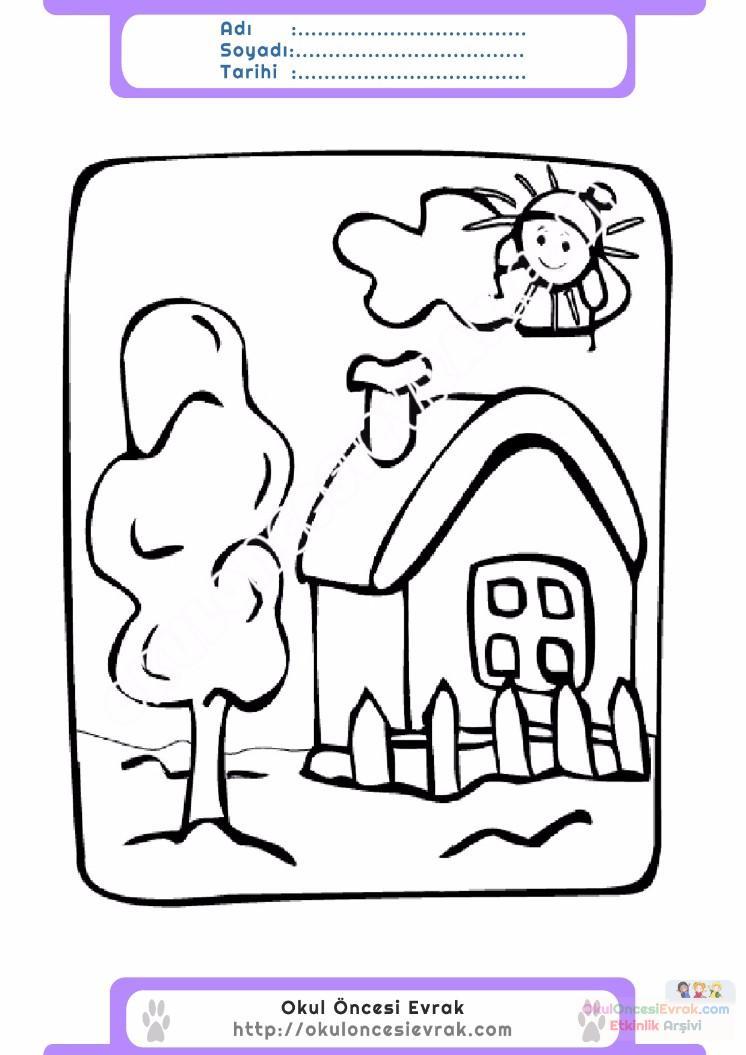 çocuklar Için Mevsimler Yaz Mevsimi Boyama Sayfası 22 Preschool