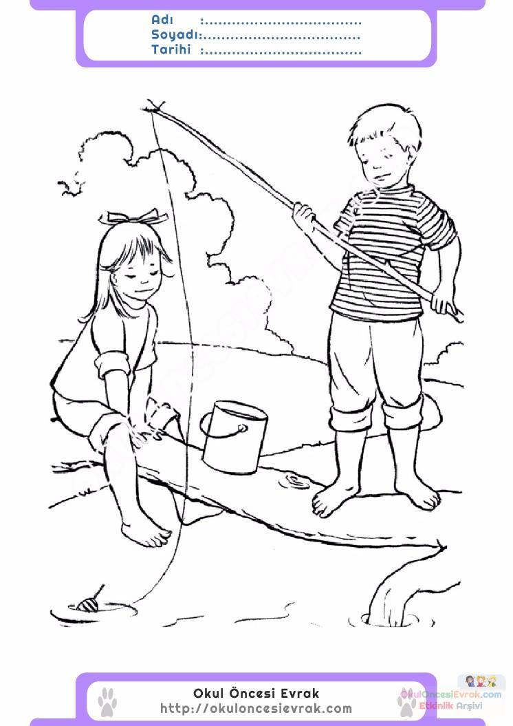 çocuklar Için Mevsimler Yaz Mevsimi Boyama Sayfası 27 Preschool