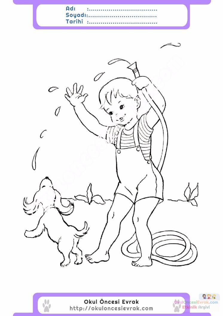 çocuklar Için Mevsimler Yaz Mevsimi Boyama Sayfası 29 Preschool