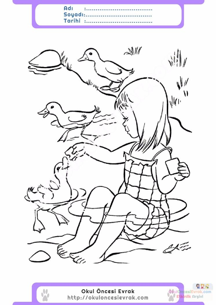 çocuklar Için Mevsimler Yaz Mevsimi Boyama Sayfası 36 Preschool