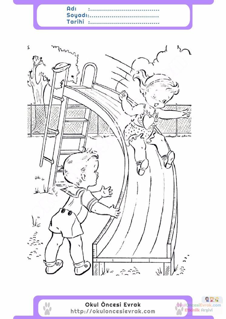 çocuklar Için Mevsimler Yaz Mevsimi Boyama Sayfası 37 Preschool