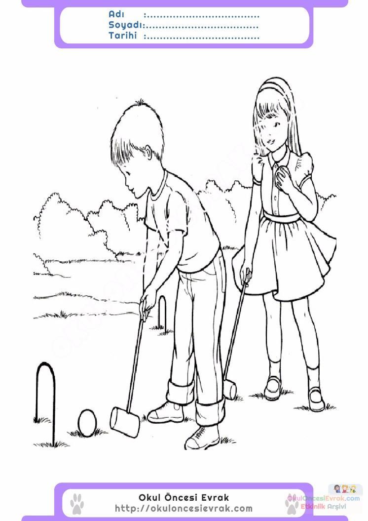 çocuklar Için Mevsimler Yaz Mevsimi Boyama Sayfası 39 Preschool