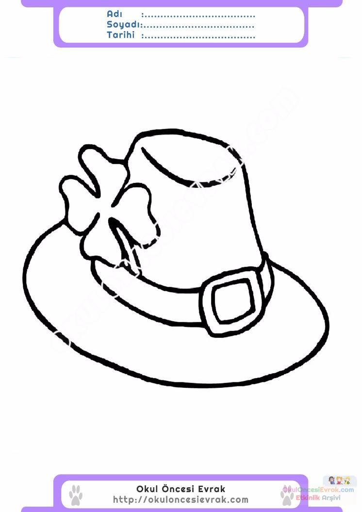 çocuklar Için şapka Kıyafet Giysi Boyama Sayfası 13 Preschool Activity