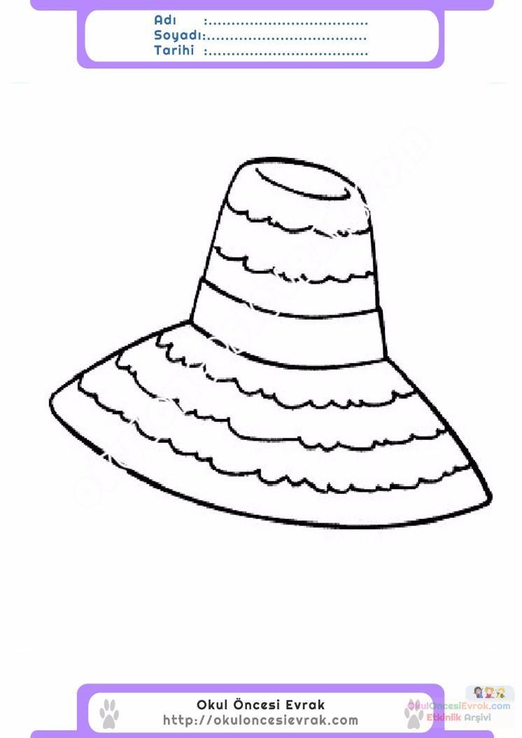 çocuklar Için şapka Kıyafet Giysi Boyama Sayfası 18 Preschool Activity
