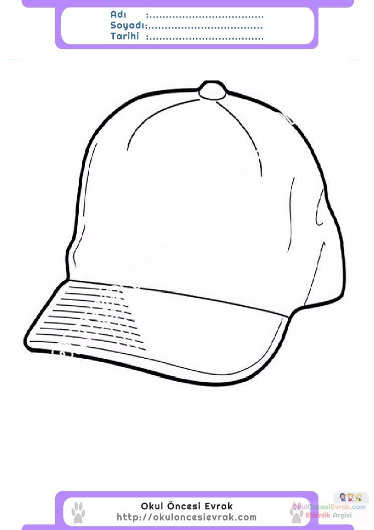 çocuklar Için şapka Kıyafet Giysi Boyama Sayfası 2 Preschool Activity