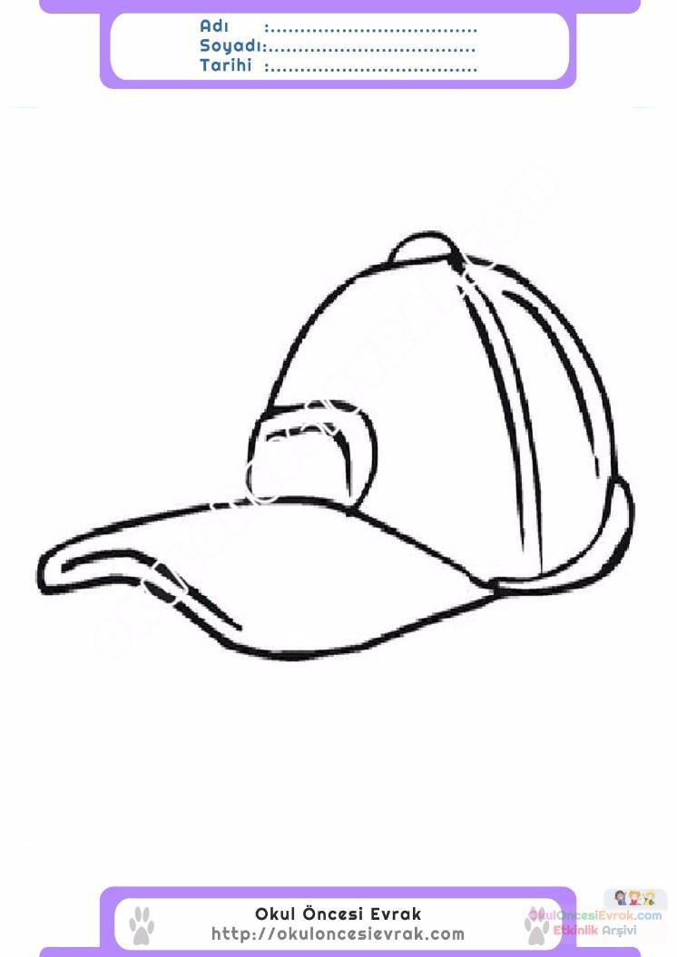 çocuklar Için şapka Kıyafet Giysi Boyama Sayfası 22 Preschool Activity