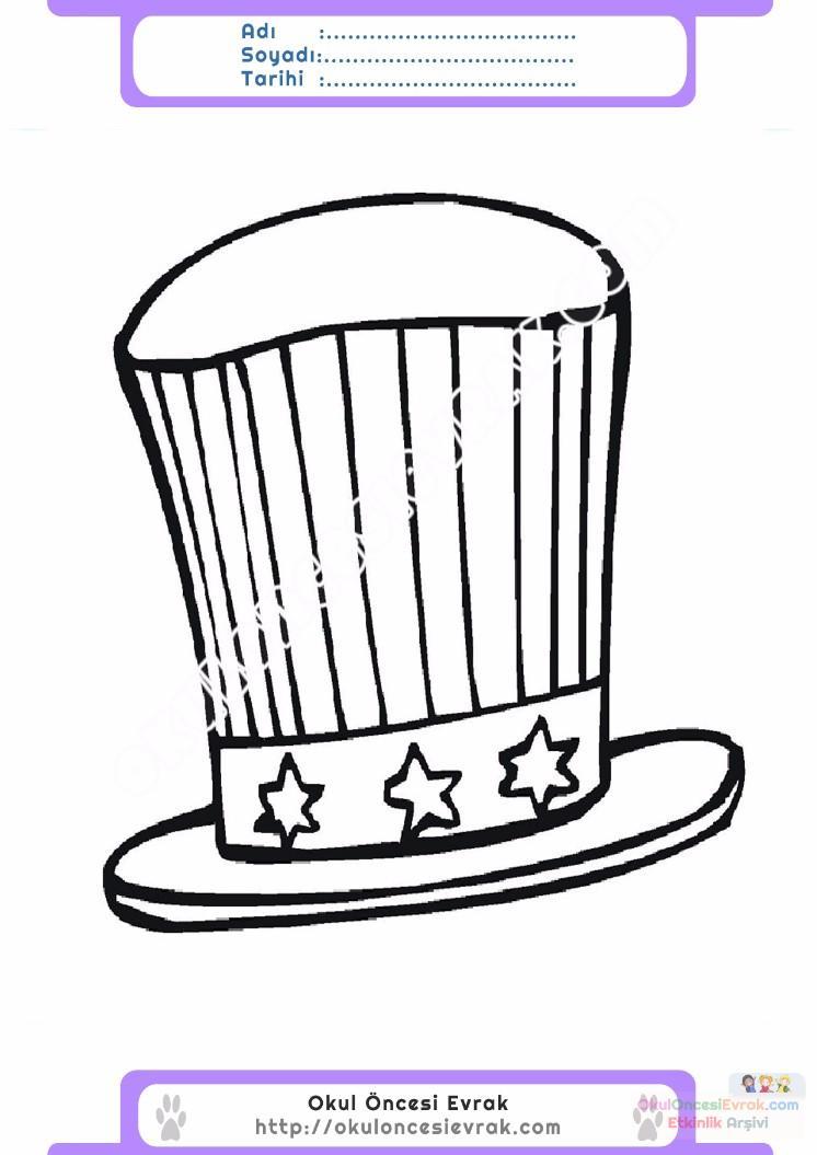çocuklar Için şapka Kıyafet Giysi Boyama Sayfası 5 Preschool Activity
