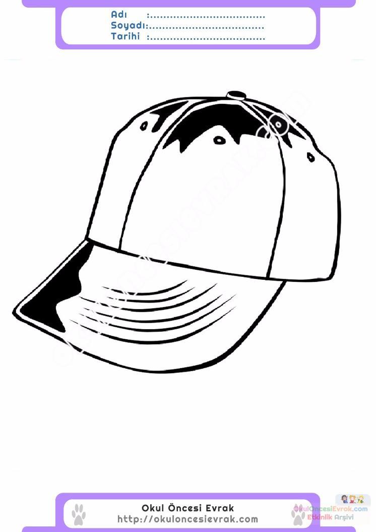 çocuklar Için şapka Kıyafet Giysi Boyama Sayfası 8 Preschool Activity