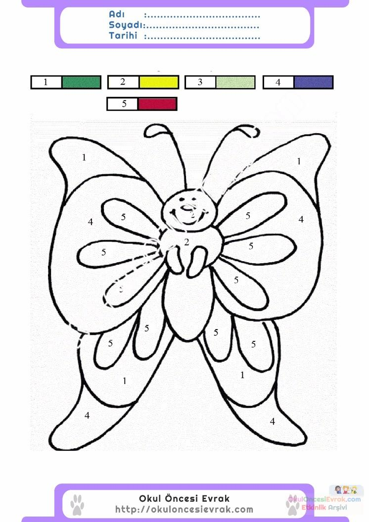 çocuklar Için Sayıya Göre Resmi Boya Boyama Sayfaları 13 Preschool