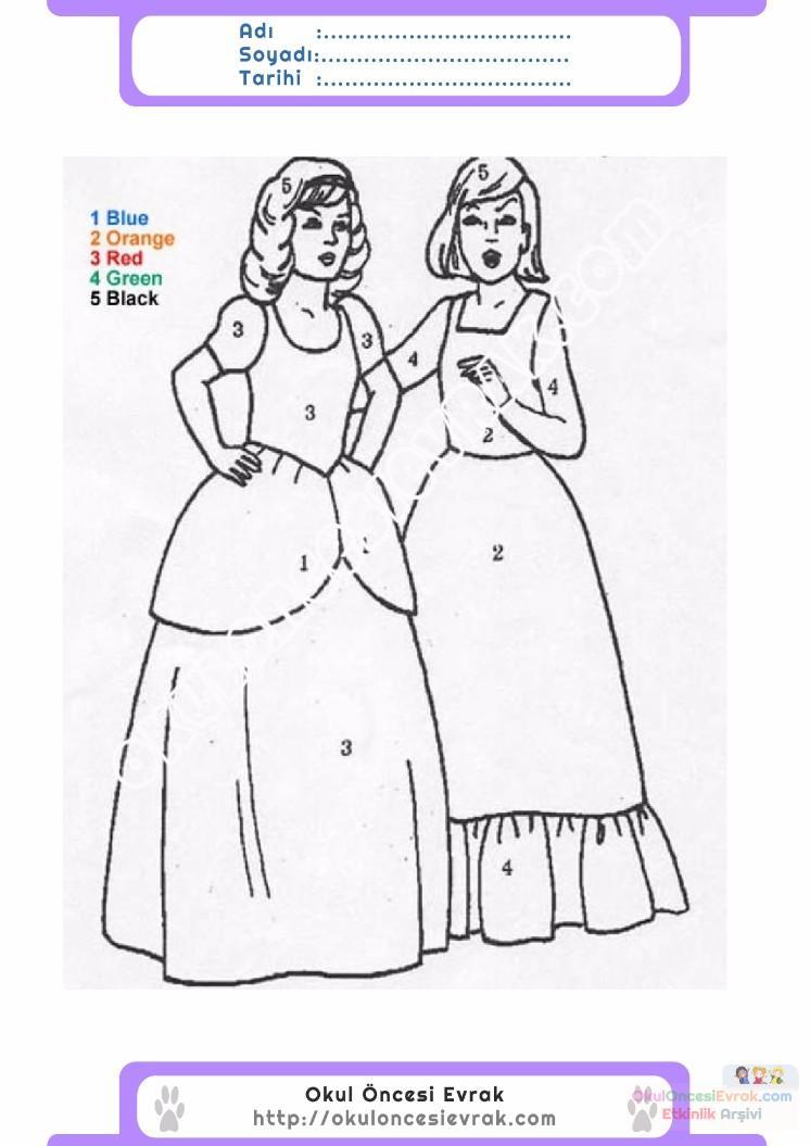 çocuklar Için Sayıya Göre Resmi Boya Boyama Sayfaları 57 Preschool