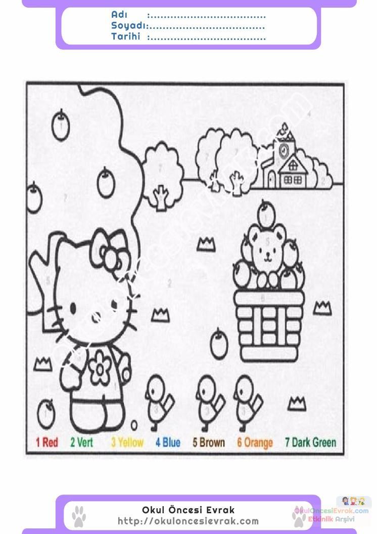 çocuklar Için Sayıya Göre Resmi Boya Boyama Sayfaları 58 Preschool