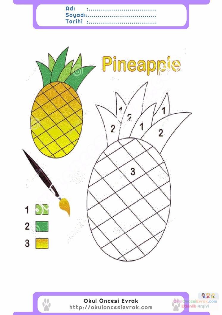çocuklar Için Sayıya Göre Resmi Boya Boyama Sayfaları 79 Preschool