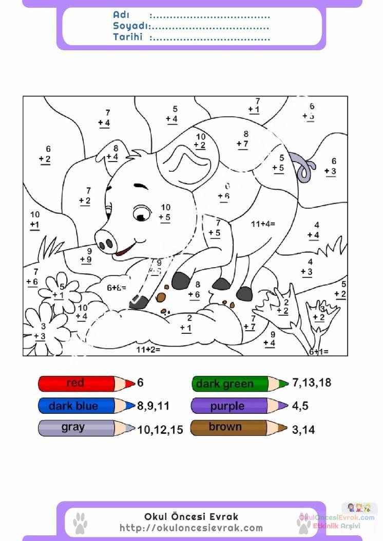 çocuklar Için Sayıya Göre Resmi Boya Boyama Sayfaları 91 Preschool