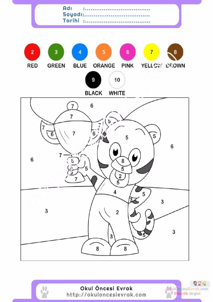 çocuklar Için Sayıya Göre Resmi Boya Boyama Sayfaları 97 Preschool