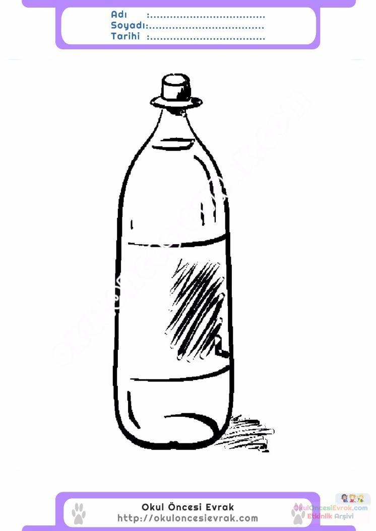 çocuklar Için şişe Eşyalar Boyama Sayfası 1 Preschool Activity