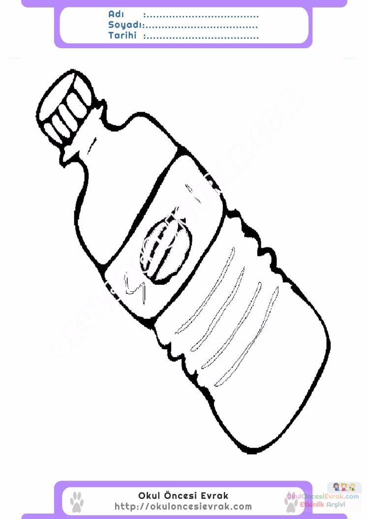 çocuklar Için şişe Eşyalar Boyama Sayfası 2 Preschool Activity