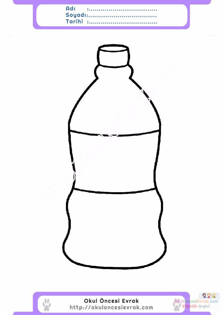 çocuklar Için şişe Eşyalar Boyama Sayfası 3 Preschool Activity