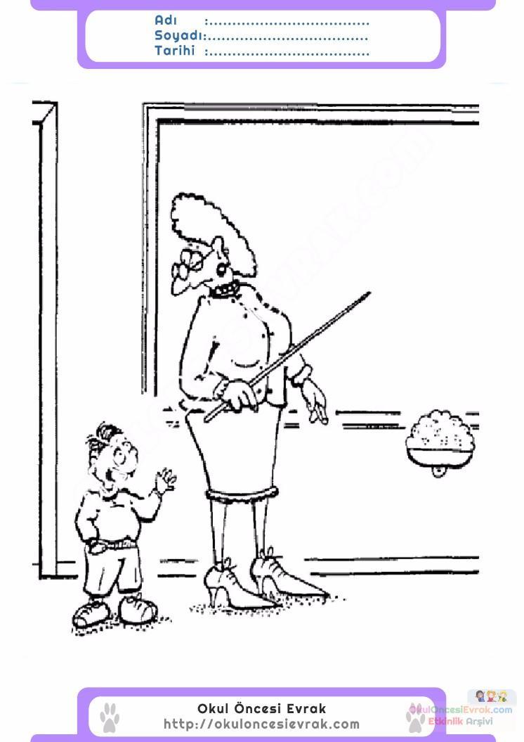 çocuklar Için Yazı Tahtası Eşyalar Boyama Sayfası 4 Preschool Activity
