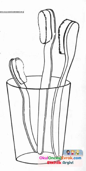 Diş Fırçası Boyama Preschool Activity