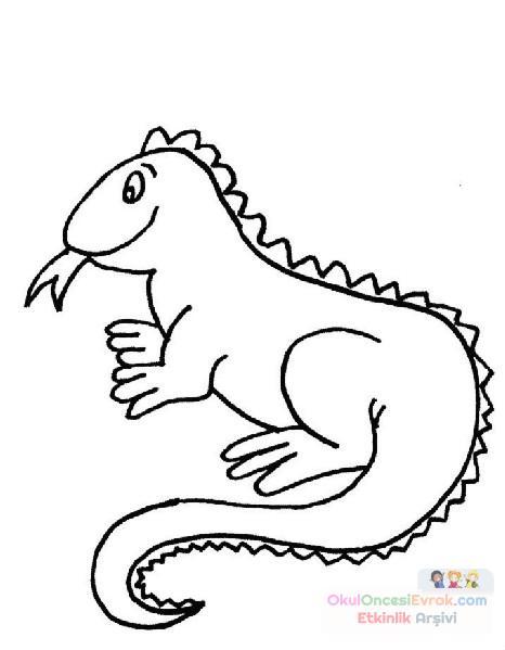 Ejderha Hayvanlar Boyama 5 Preschool Activity