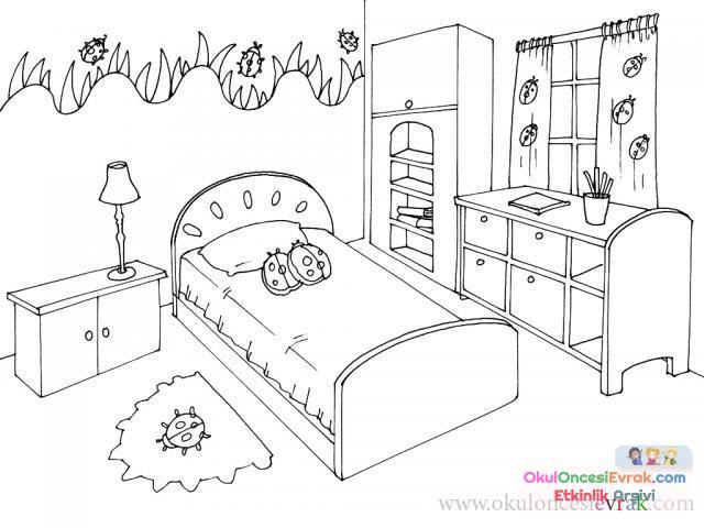Evin Bölümleri Boyama 25 Preschool Activity