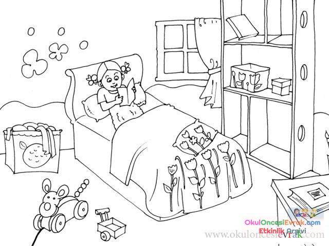 Evin Bölümleri Boyama 26 Preschool Activity