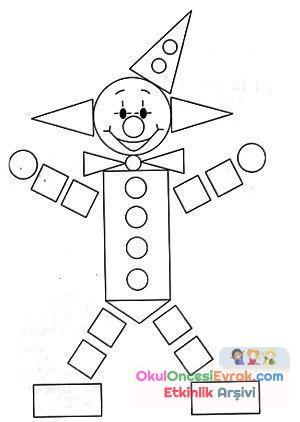 Geometrik şekiller Kavram 33jpg Preschool Activity