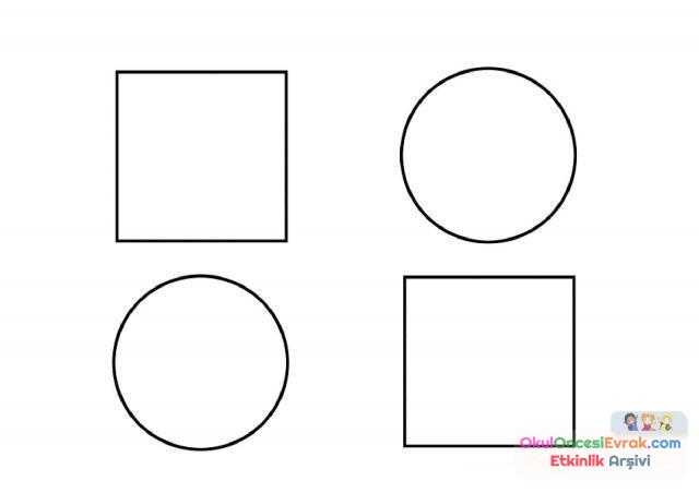 Geometrik şekiller Kavram 47 Preschool Activity