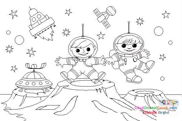 Gökyüzünde Neler Var Astronot 13 Preschool Activity