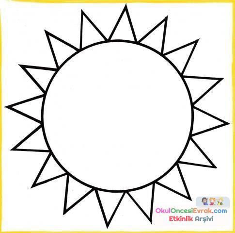 Gökyüzünde Neler Var Güneş117 Preschool Activity