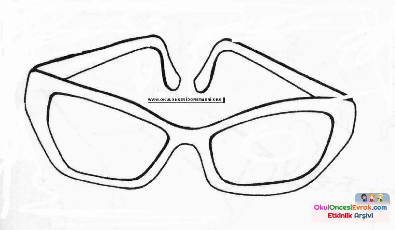 Gözlük Boyama Preschool Activity