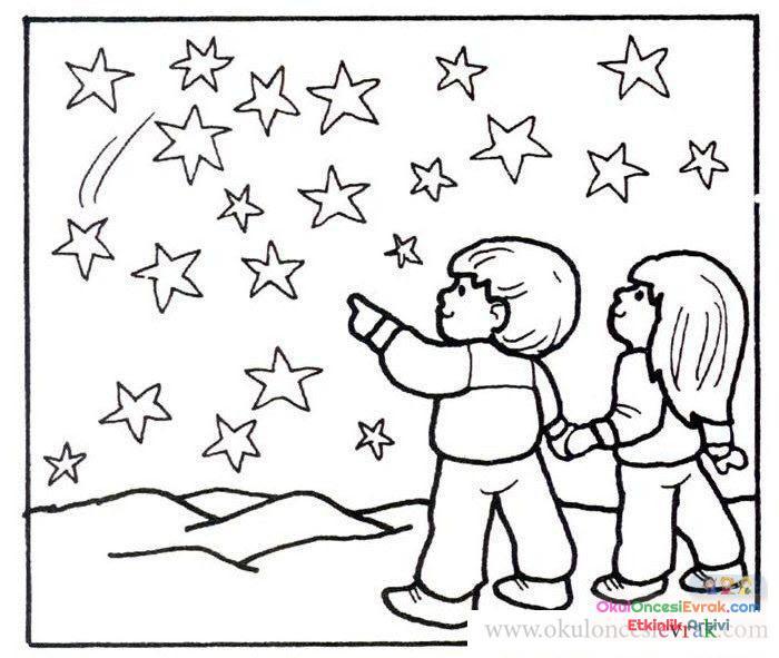 Güneş Ay Yıldız Dünya 15 Preschool Activity